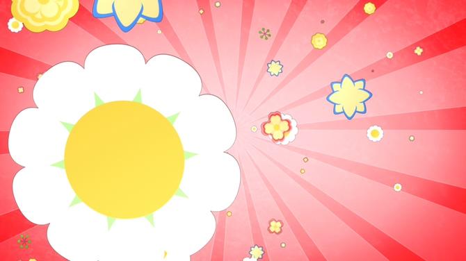 儿童欢乐花朵形状射线背景视频素材