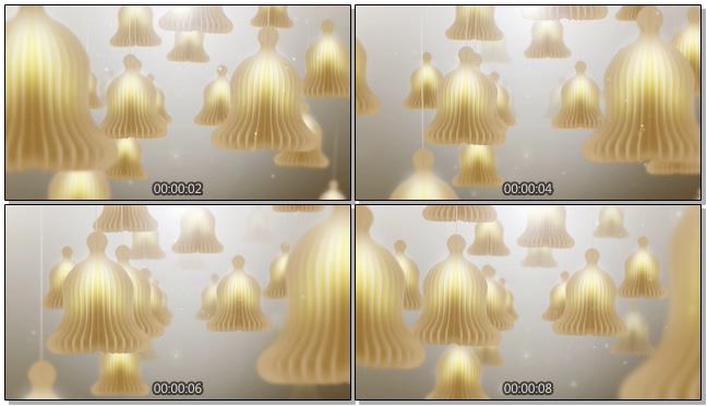 唯美梦幻的白色灯光视频素材
