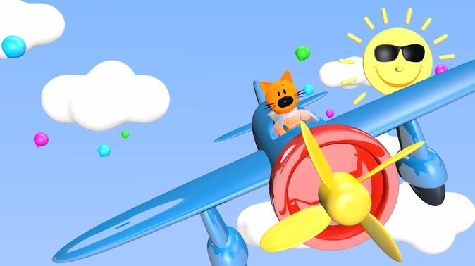 卡通熊飞机背景视频素材