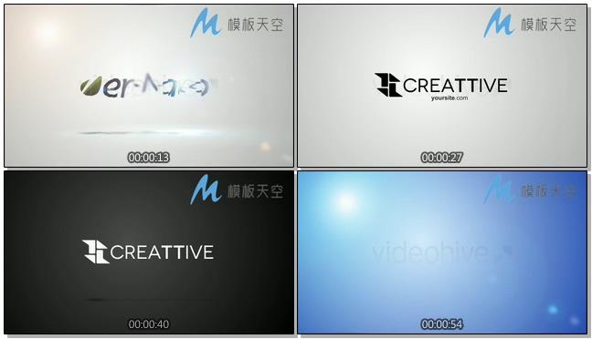 欢快节奏标题logo片头展示ae模板