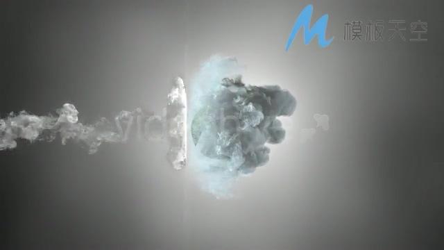 玄幻烟雾汇聚logo标题字幕片头AE模板