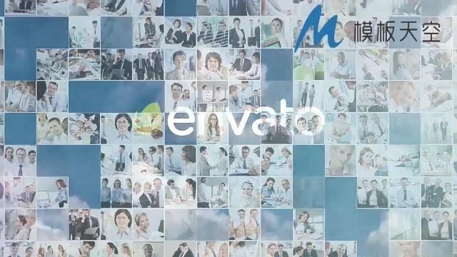 多元化图片拼接文字LOGO标题AE模板