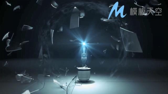电子碎灯泡动态文字LOGO标题AE模板