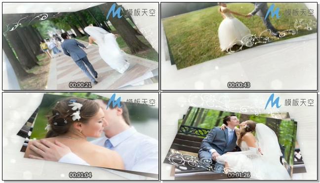 户外婚礼走廊相册婚庆婚礼视频AE模板