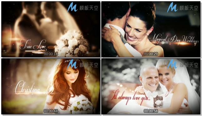 婚礼故事相册婚庆婚礼视频AE模板