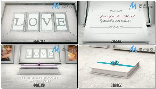 婚礼邀请婚宴通告伴手礼婚庆婚礼视频AE模板