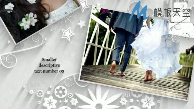 简洁高贵衍纸图案婚庆婚礼视频AE模板