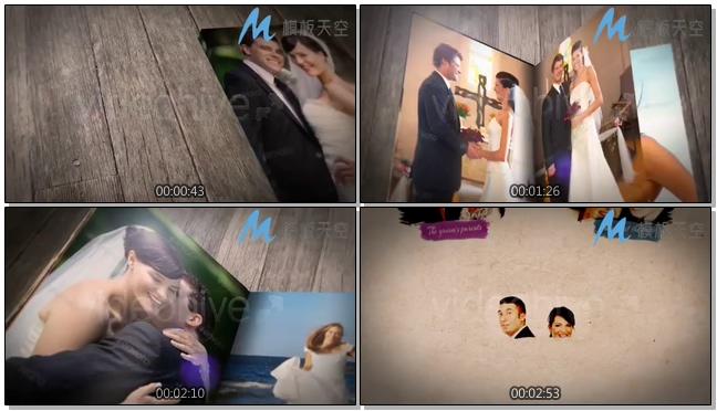 婚礼故事展示相册婚庆婚礼视频AE模板