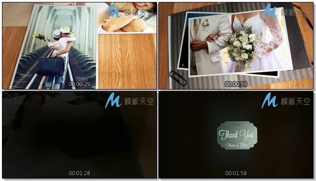 我和你明信片照片婚庆婚礼视频AE模板