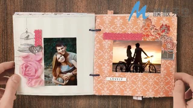 立体相册照片真实回忆婚庆婚礼视频AE模板
