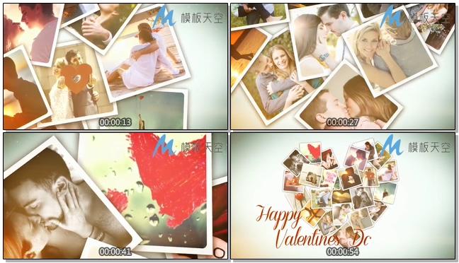 梦中婚礼情人节爱心婚庆婚礼视频AE模板