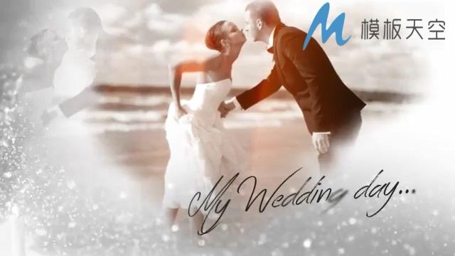 简洁海水泡沫婚庆婚礼视频AE模板