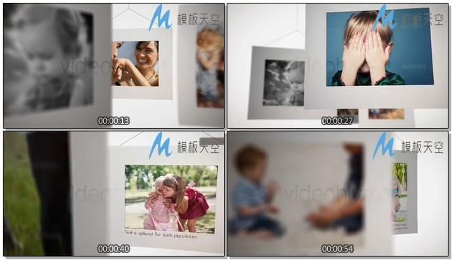 动态特色照片墙图片文字AE模板