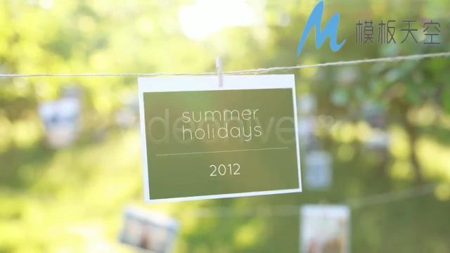 阳光明媚果园花卉照片图片文字AE模板