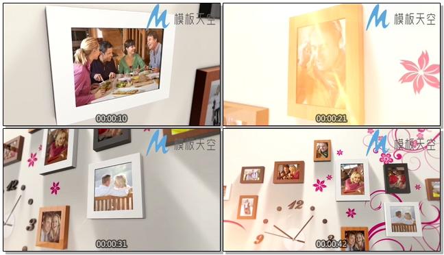 微立体照片墙相框照片图片文字AE模板