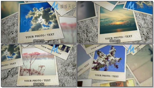 多元化动态照片墙图片文字AE模板