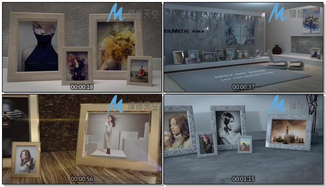 现代家居相框照片图片文字AE模板