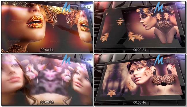 大屏动态电视照片图片文字AE模板