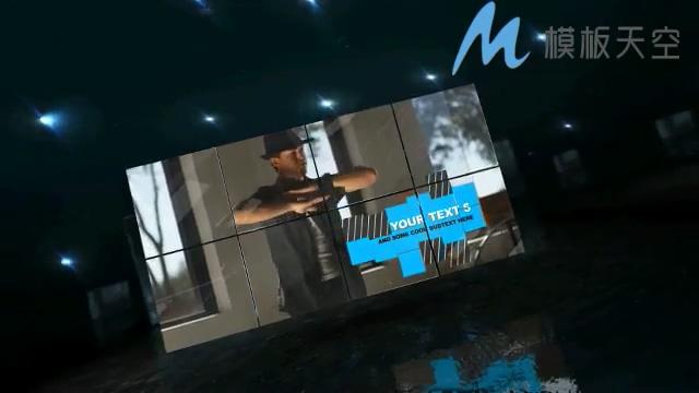 科技动态魔法魔方图片文字AE模板