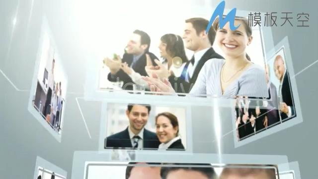 简洁动态商务团队视频图片文字AE模板