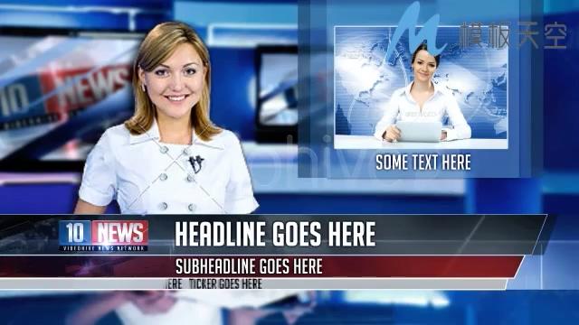 新闻版块图片文字视频影视包装AE模板