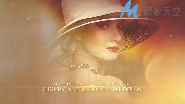 金色奢华时尚奖赏文字图片AE模板