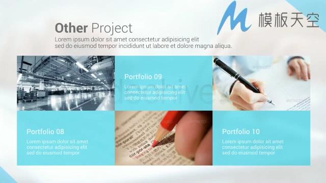 商务包装图片文字视频影视包装AE模板