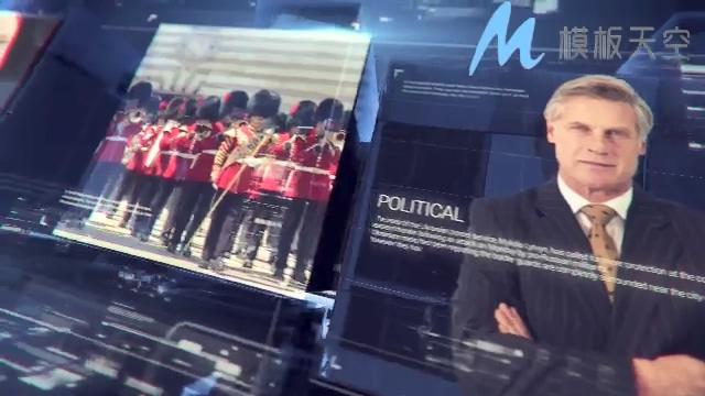 动态电视新闻预报条目影视包装AE模板