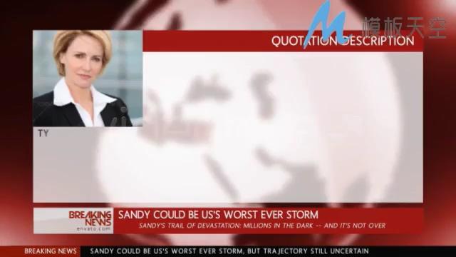 红色新闻电视直播消息影视包装AE模板