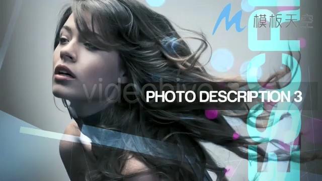 炫彩动感微立体模特杂志照片AE模板
