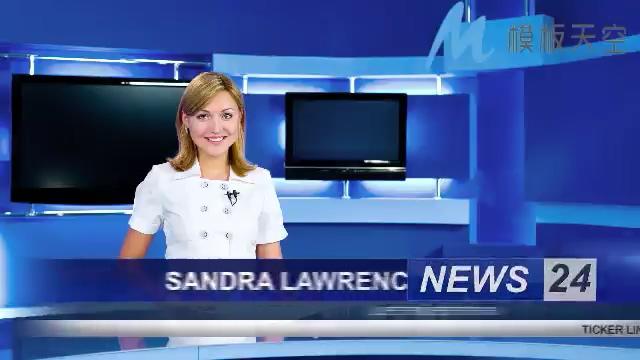 蓝色简洁新闻设计图片视频影视包装AE模板