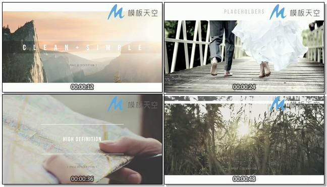 动态视差滚动图片视频时尚动感AE模板