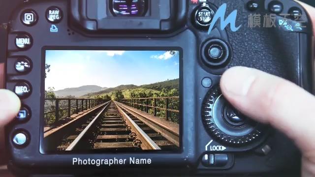简洁多彩相机里的世界图片AE模板