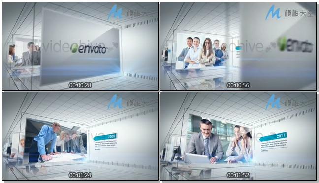 商务时间轴动态文字图片AE模板