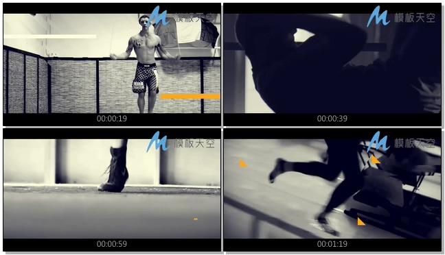 健身运动图片视频时尚动感AE模板