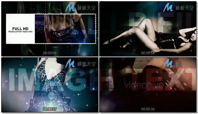 夜店音乐舞蹈合集图片视频时尚动感AE模板