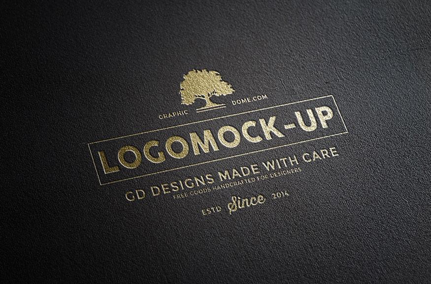 金色微立体大气时尚LOGO图标