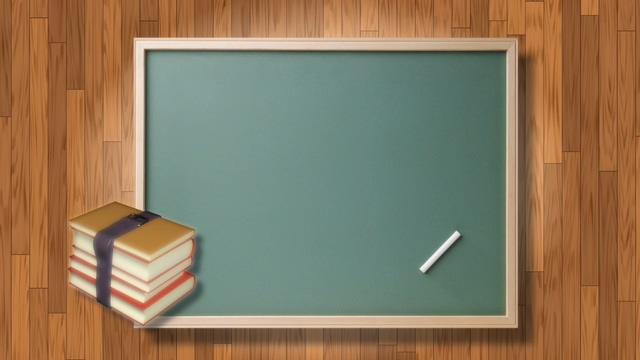 可爱卡通黑板书和粉笔的视频素材