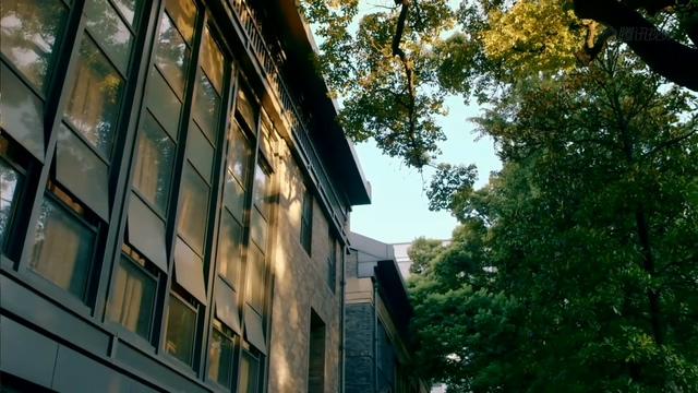 经典校园教学楼一角视频素材