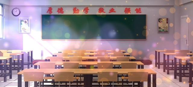 干净整洁的教室黑板视频素材(有音乐)