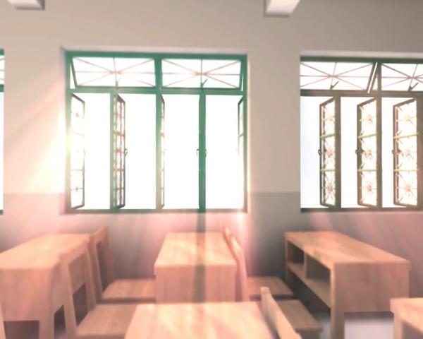 温暖的阳光照进教室的视频素材