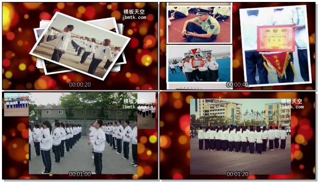 高中毕业相册照片墙会声会影X9视频模板