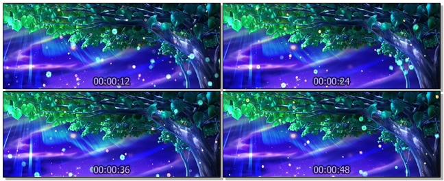 唯美梦幻的星空粒子飞舞的视频素材