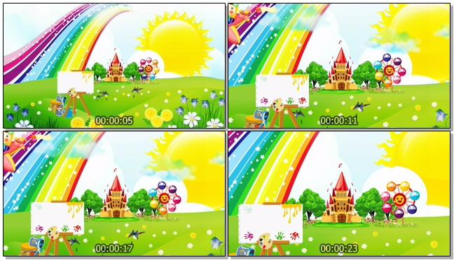 唯美梦幻的儿童乐园视频素材