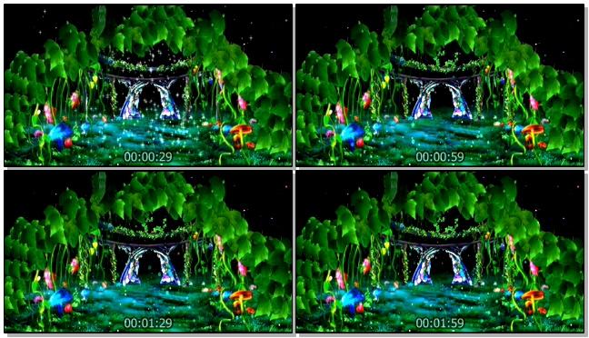 梦幻唯美的森林童话王国视频素材