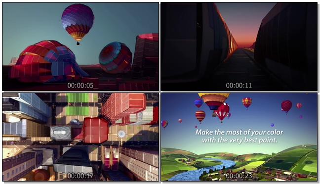 动画记录快节奏的城市生活方式背景视频
