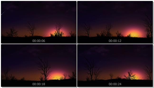浪漫唯美的夕阳落日视频素材