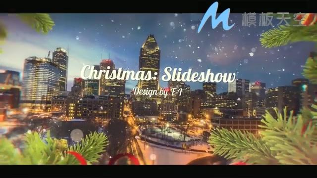 131210081圣诞视频幻灯片