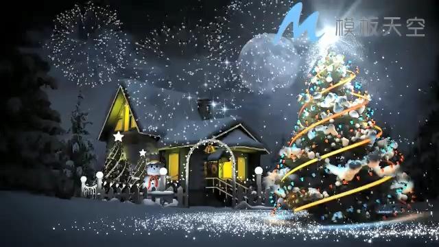 131210123粒子光效圣诞片头