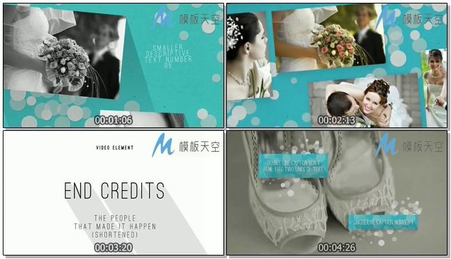 130110133现代婚礼包装模板